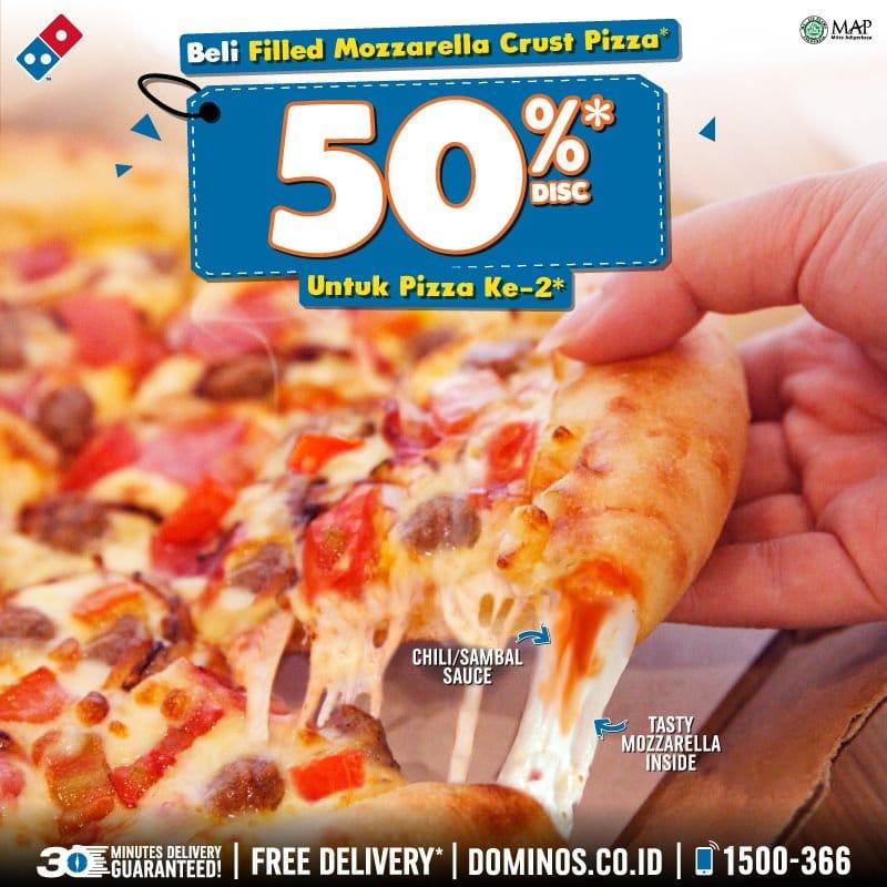 promo makanan bulan September 2018, info promo terbaru diskon 50% Domino Pizza