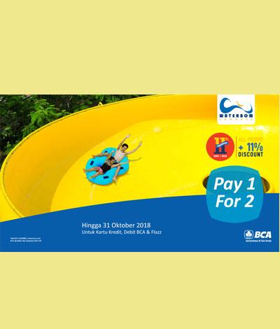Promo Pay 1 For 2 Tiket Waterbom Jakarta_2