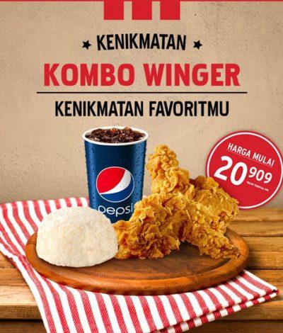 Promo Kombo Winger KFC Harga Mulai Rp20.909! - Jakartahotdeal