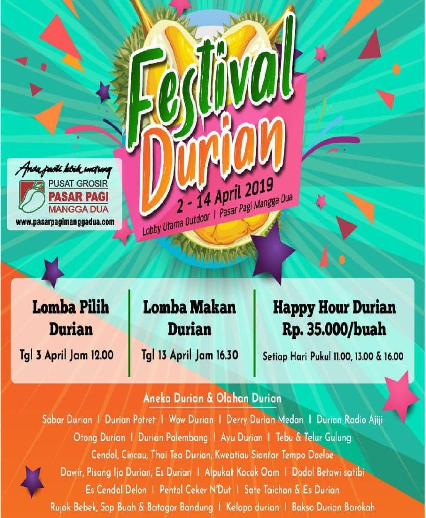 Festival Durian 2019 di Pasar Pagi Mangga Dua, Catat Tanggalnya!