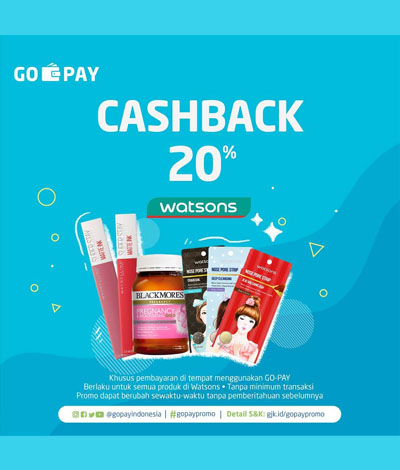 Promo terbaru Watsons Cashback