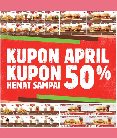 promo terbaru april burger king 50%