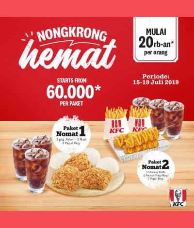Promo KFC Juli 2019, Ada Paket Nongkrong Hemat Cuma 20 Ribuan!