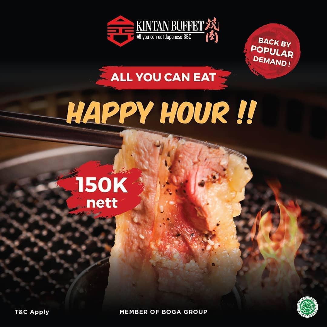 Promo Kintan Buffet Happy Hour Nikmati All You Can Eat Hanya 150 Ribu