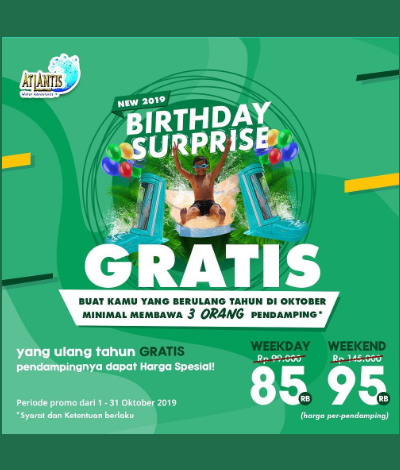 Promo Atlantis Birthday Surprise, jakartahotdeal.com