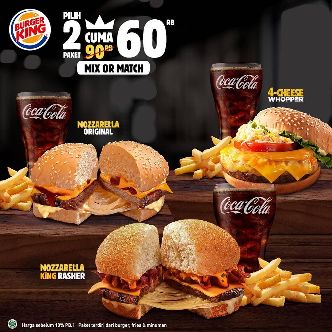 Promo Oktober Burger King 2 Paket Jr Meal Hanya 60 Ribu