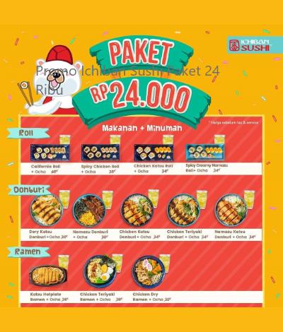 Promo Ichiban Sushi Paket 24 Ribu, jakartahotdeal.com