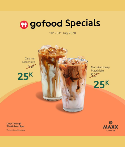 Promo MAXX Coffee Gofood Specials