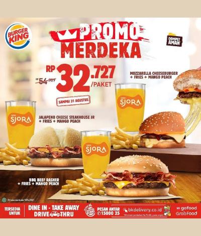 Burger King Promo Merdeka, Jakartahotdeal.com