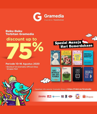 Promo Gramedia Diskon Hingga 75%, Jakartahotdeal.com