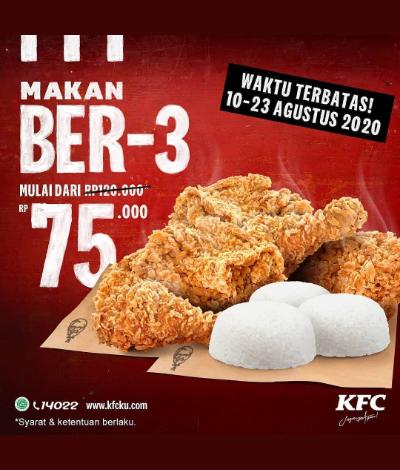 Promo KFC Makan Ber-3