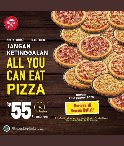 Promo Pizza Hut All You Can Eat Pizza, Jakartahotdeal.com