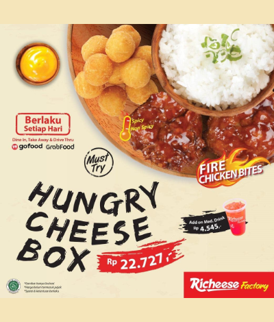 Promo Richeese Hungry Cheese Box, Jakartahotdeal.com